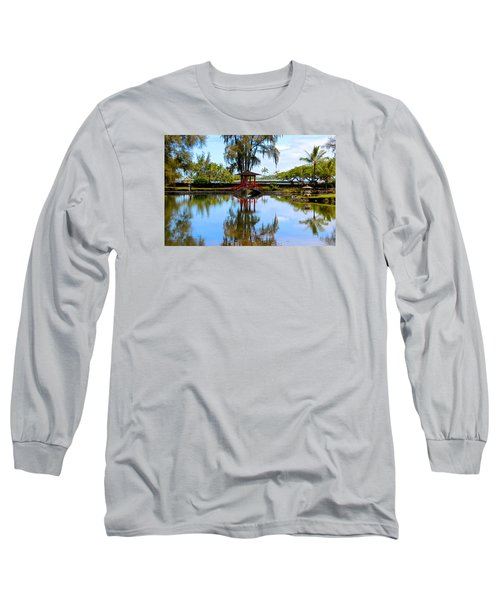 Japanese Gardens Long Sleeve T-Shirt by Venetia Featherstone-Witty
