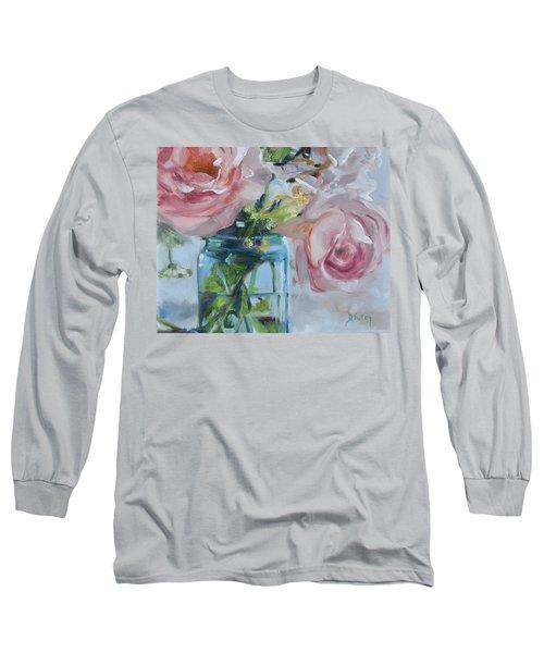 Jar Of Pink Long Sleeve T-Shirt by Donna Tuten