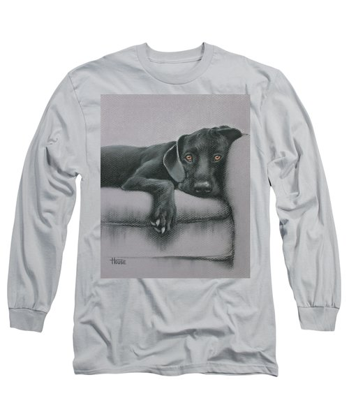 Long Sleeve T-Shirt featuring the drawing Jasper by Cynthia House