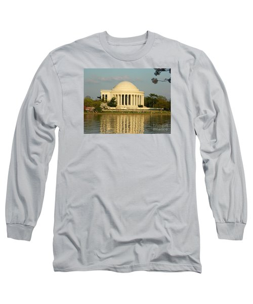 Long Sleeve T-Shirt featuring the photograph Jefferson Memorial At Sunset by Emmy Marie Vickers