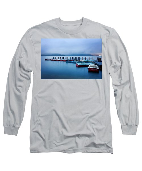 Jetty At Sun Moon Lake Long Sleeve T-Shirt by Yew Kwang