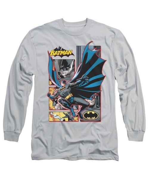 Jla - Batman Panels Long Sleeve T-Shirt