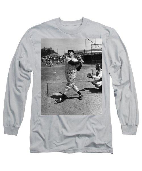 Joe Dimaggio Hits A Belter Long Sleeve T-Shirt