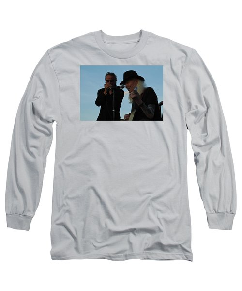 Long Sleeve T-Shirt featuring the photograph Johnny Winter And James Montgomery Playing The Blues by Mike Martin