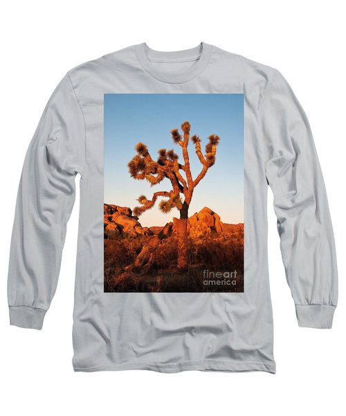 Long Sleeve T-Shirt featuring the photograph Joshua Tree At Sunset by Mae Wertz