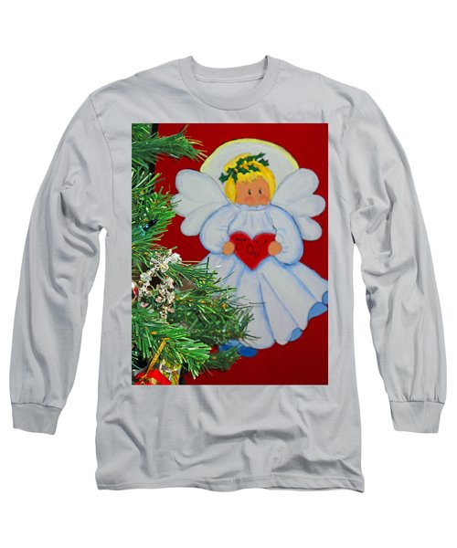 Long Sleeve T-Shirt featuring the painting Joy by Barbara McDevitt