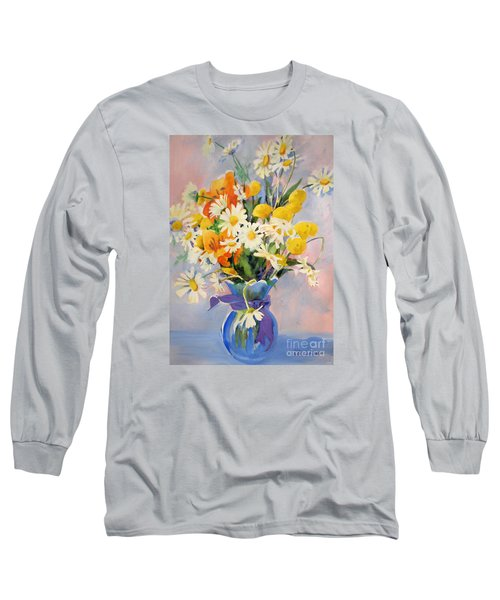 July Summer Arrangement  Long Sleeve T-Shirt by Kathy Braud