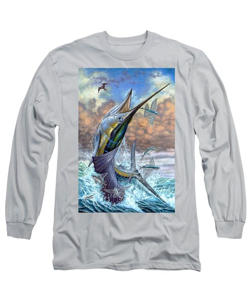 Jumping Sailfish And Flying Fishes Long Sleeve T-Shirt