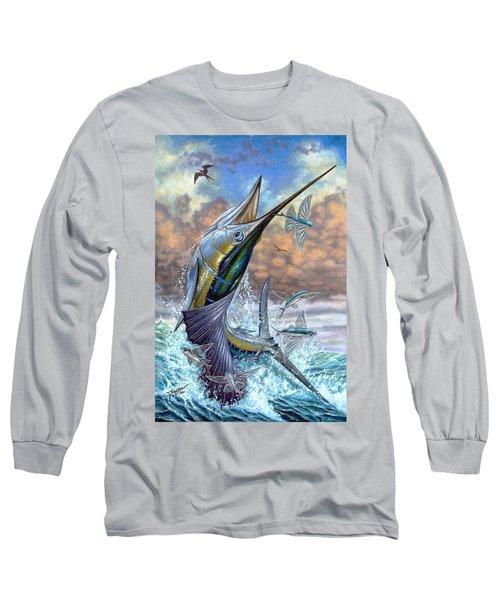 Jumping Sailfish And Flying Fishes Long Sleeve T-Shirt
