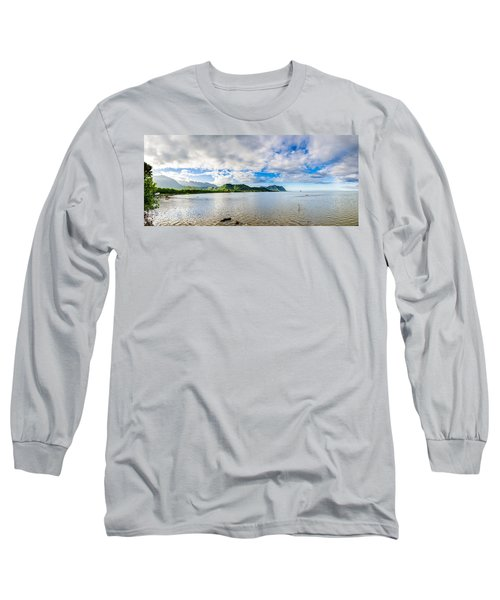 Kahaluu Fish Pond Panorama Long Sleeve T-Shirt