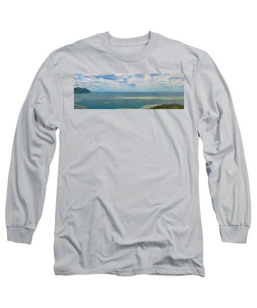 Kaneohe Sandbar Panorama Long Sleeve T-Shirt