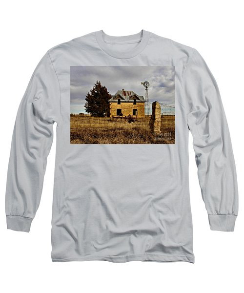 Long Sleeve T-Shirt featuring the photograph Kansas Castle 1 by Lynne Wright