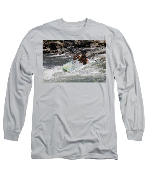 Kayaking In Golden Long Sleeve T-Shirt