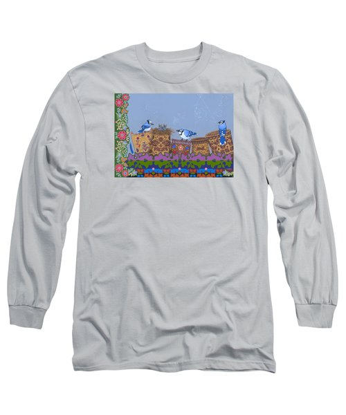 Long Sleeve T-Shirt featuring the painting Keeper Of Songs by Chholing Taha