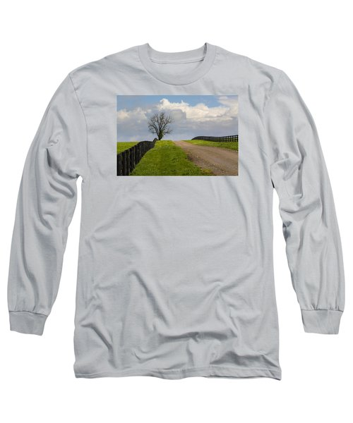 Kentucky Horse Farm Road Long Sleeve T-Shirt