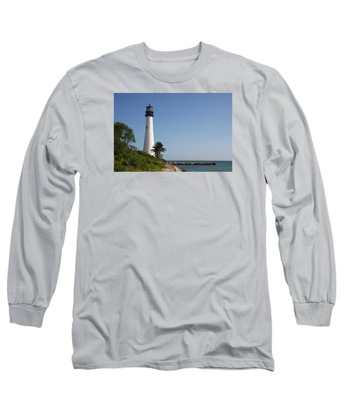 Long Sleeve T-Shirt featuring the photograph Key Biscayne Lighthouse by Christiane Schulze Art And Photography