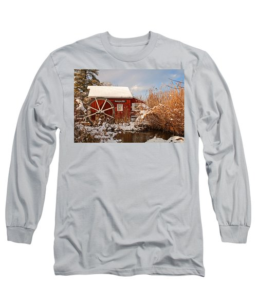 Kimberton Mill After Snow Long Sleeve T-Shirt