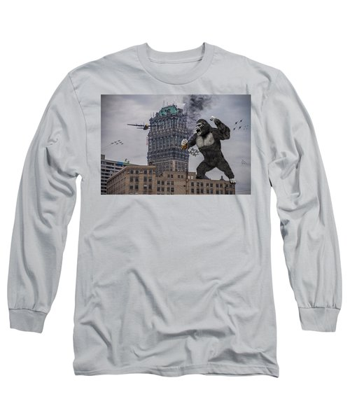 Long Sleeve T-Shirt featuring the photograph King Kong In Detroit At Wurlitzer by Nicholas  Grunas