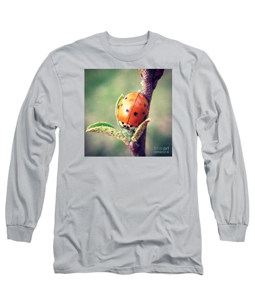 Ladybug  Long Sleeve T-Shirt by Kerri Farley