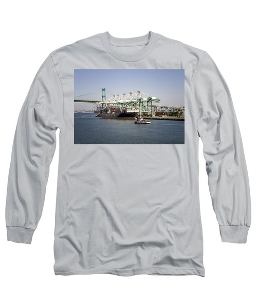 Lafd Fire Boat 2 San Pedro Ca 03 Long Sleeve T-Shirt