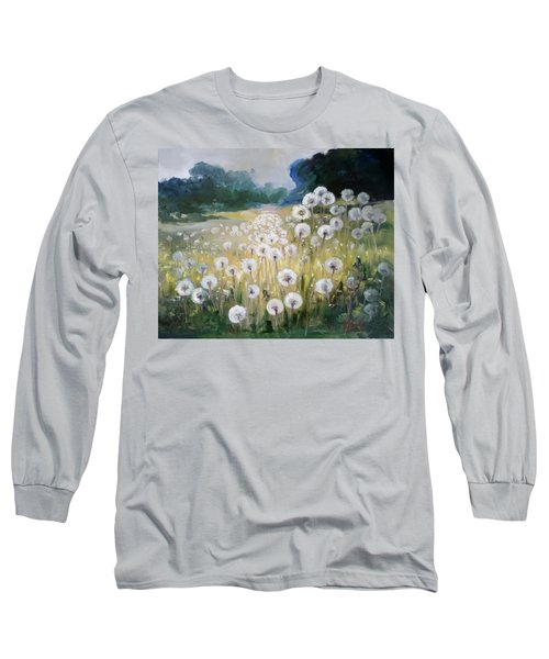 Lanscape With Blow-balls Long Sleeve T-Shirt