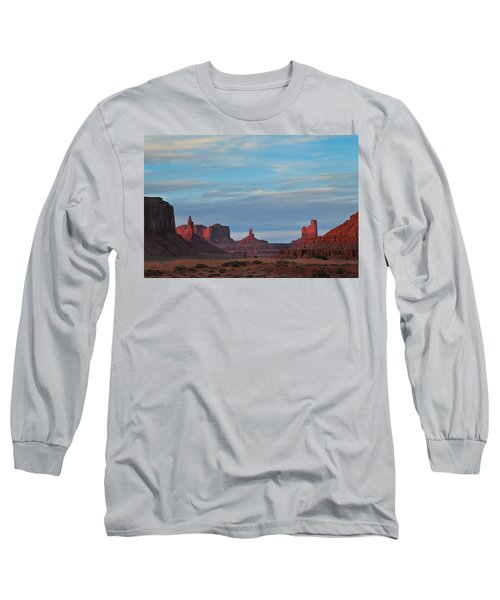 Long Sleeve T-Shirt featuring the photograph Last Light In Monument Valley by Alan Vance Ley