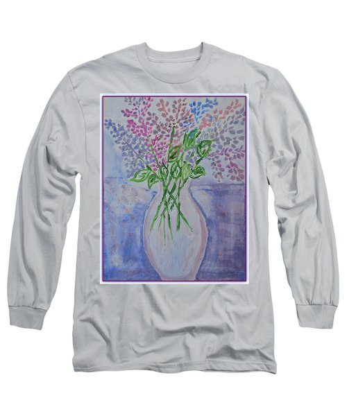 Lavendar  Flowers Long Sleeve T-Shirt by Sonali Gangane