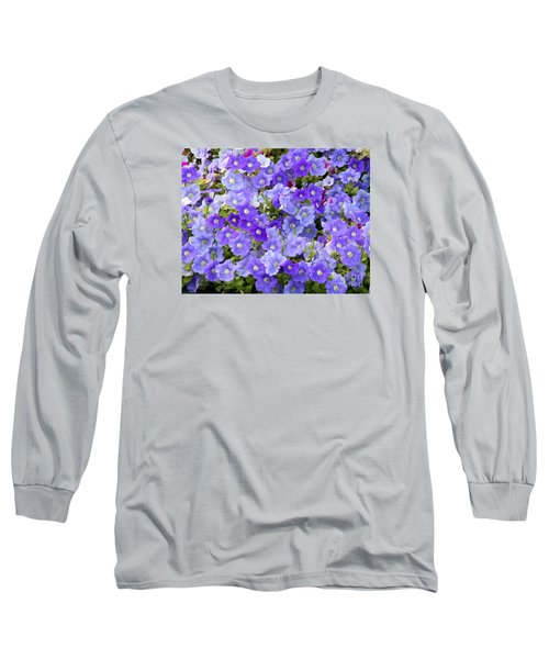 Long Sleeve T-Shirt featuring the photograph Lavender And Purple by Mariarosa Rockefeller