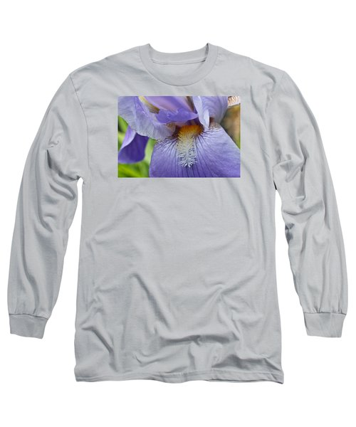 Long Sleeve T-Shirt featuring the photograph Lavish Iris by Julie Andel