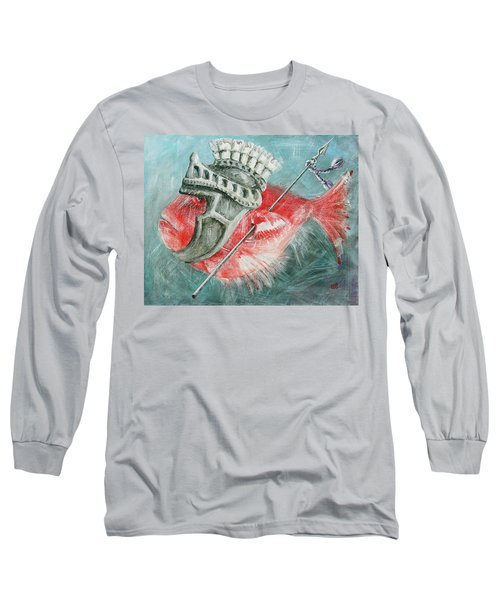 Long Sleeve T-Shirt featuring the painting Legionnaire Fish by Marina Gnetetsky