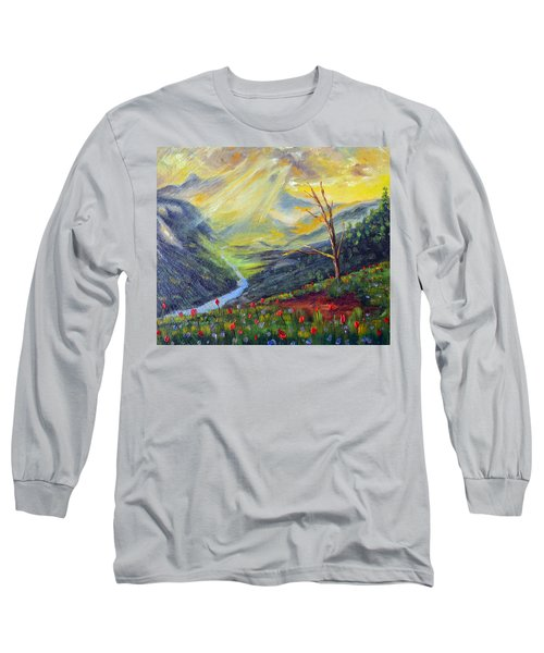 Long Sleeve T-Shirt featuring the painting Life Force by Meaghan Troup