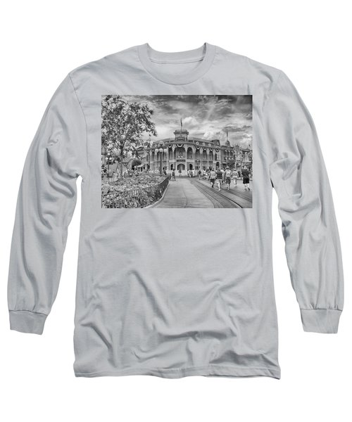 Long Sleeve T-Shirt featuring the photograph Life On Main Street by Howard Salmon