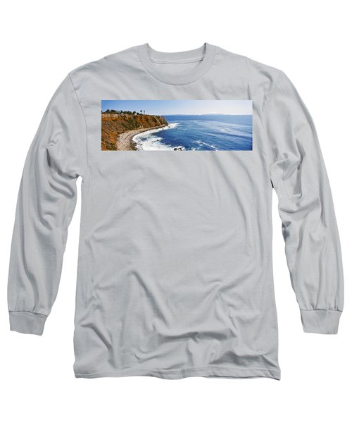 Lighthouse At A Coast, Point Vicente Long Sleeve T-Shirt