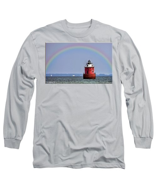 Lighthouse On The Bay Long Sleeve T-Shirt by Brian Wallace