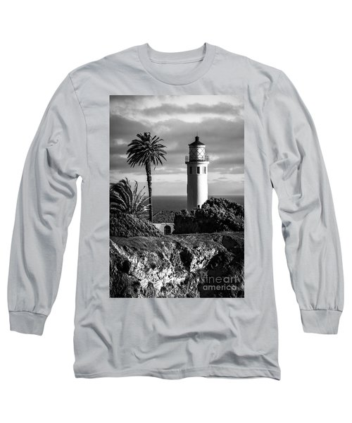 Long Sleeve T-Shirt featuring the photograph Lighthouse On The Bluff by Jerry Cowart