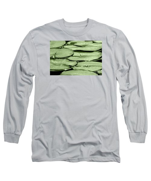 Long Sleeve T-Shirt featuring the photograph Lilypads by Roselynne Broussard