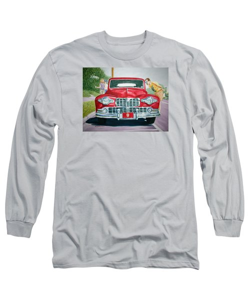 Lincoln In Red Long Sleeve T-Shirt