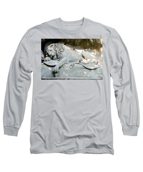 Lion Monument In Lucerne Switzerland Long Sleeve T-Shirt