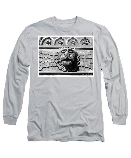 Lions Head Long Sleeve T-Shirt by Carsten Reisinger