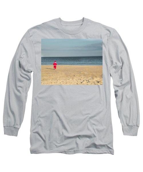 Little Santa On The Beach Long Sleeve T-Shirt