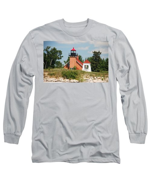 Long Sleeve T-Shirt featuring the photograph Little Traverse Lighthouse No.2 by Janice Adomeit