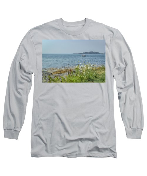 Long Sleeve T-Shirt featuring the photograph Lobster Boat At Rest by Jane Luxton