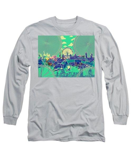 London Skyline Vintage 2 Long Sleeve T-Shirt