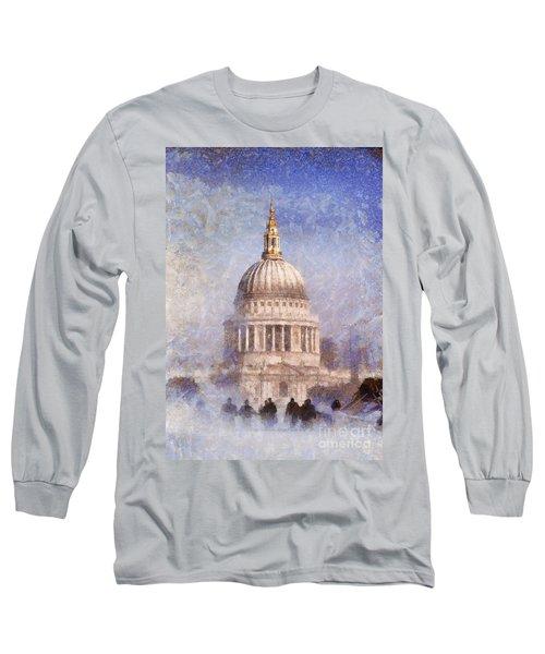 London St Pauls Fog 02 Long Sleeve T-Shirt