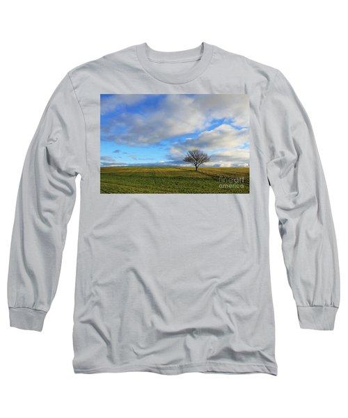 Lone Tree At Epsom Downs Uk Long Sleeve T-Shirt