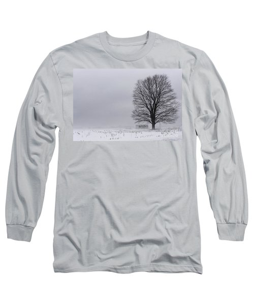 Lone Tree In The Fog Long Sleeve T-Shirt