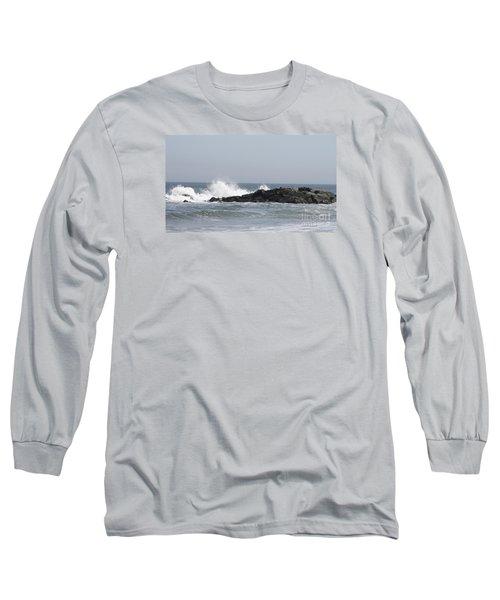 Long Beach Jetty Long Sleeve T-Shirt by John Telfer