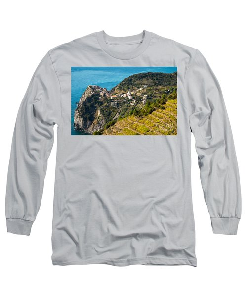 Looking Down Onto Corniglia Long Sleeve T-Shirt