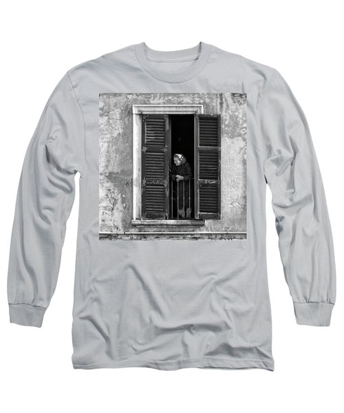 Looking Outside Long Sleeve T-Shirt