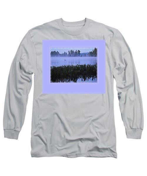 Loon On A Misty Morning At Parker Long Sleeve T-Shirt by Joy Nichols